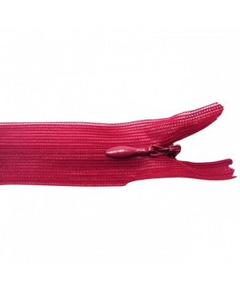 Fermeture à glissière invisible 20 cm Rouge foncé