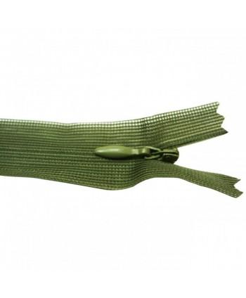 Fermeture à glissière invisible 20 cm Vert militaire
