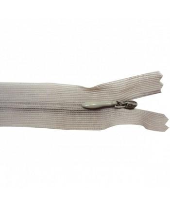 Fermeture à glissière invisible 20 cm Gris clair