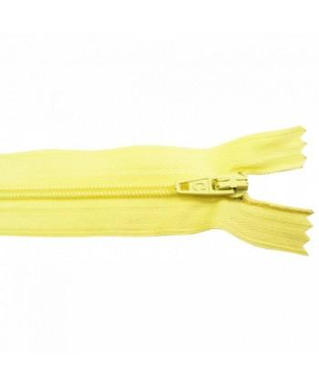 Fermeture nylon non-séparable 30 cm Jaune clair
