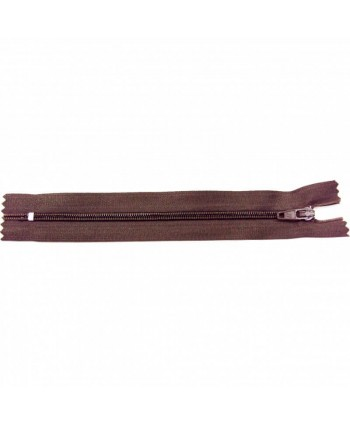 Fermeture nylon non-séparable 30 cm Chocolat