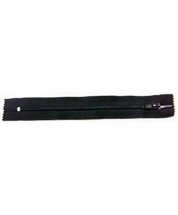 Fermeture nylon non-séparable 30 cm Noir