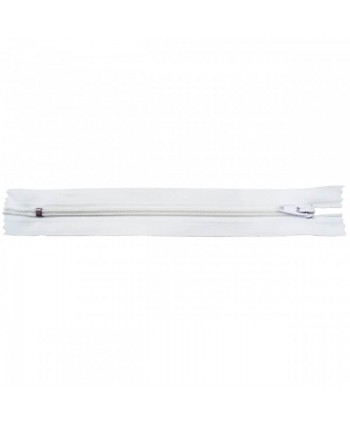 Fermeture nylon non-séparable 30 cm Blanc