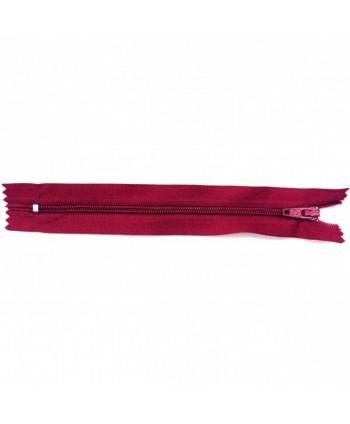 Fermeture nylon non-séparable 30 cm bordeaux