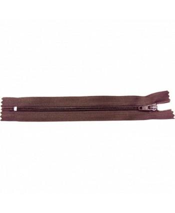 Fermeture nylon non-séparable 40 cm Chocolat
