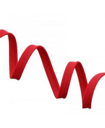 Passepoil tout textile 10mm rouge
