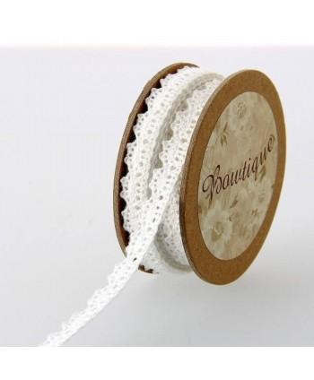 Galon dentelle 10 mm Blanc