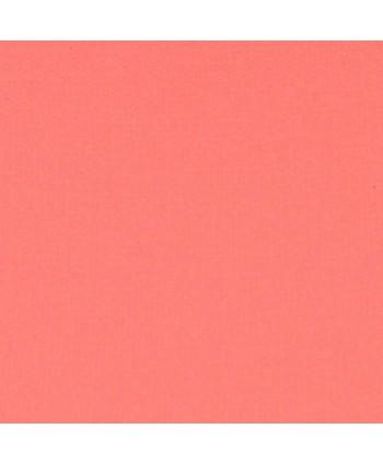 Popeline de coton unie Rose d'été