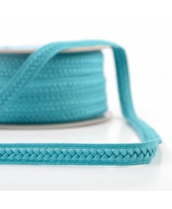 Galon fantaisie tressé Turquoise 14 mm
