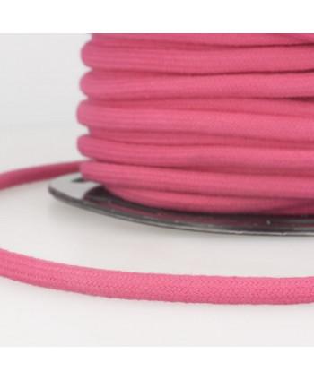 Cordon tressé coton rond 8 mm Fuchsia
