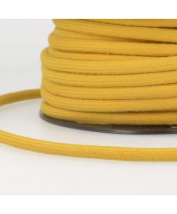 Cordon tressé coton rond 8 mm Moutarde