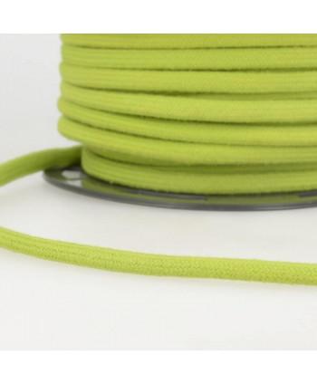 Cordon tressé coton rond 8 mm Vert