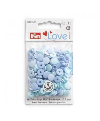 """Prym Love Boutons pression """"Color Snaps Mini"""" Bleu c"""