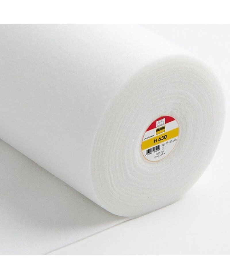 Ouatine volumineuse fine thermocollante Vlieseline H630 Blanc b
