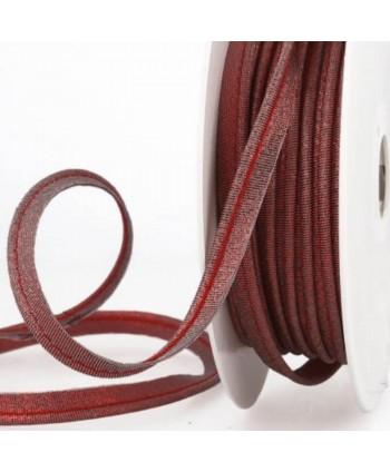 Passepoil métallisé rouge 10 mm