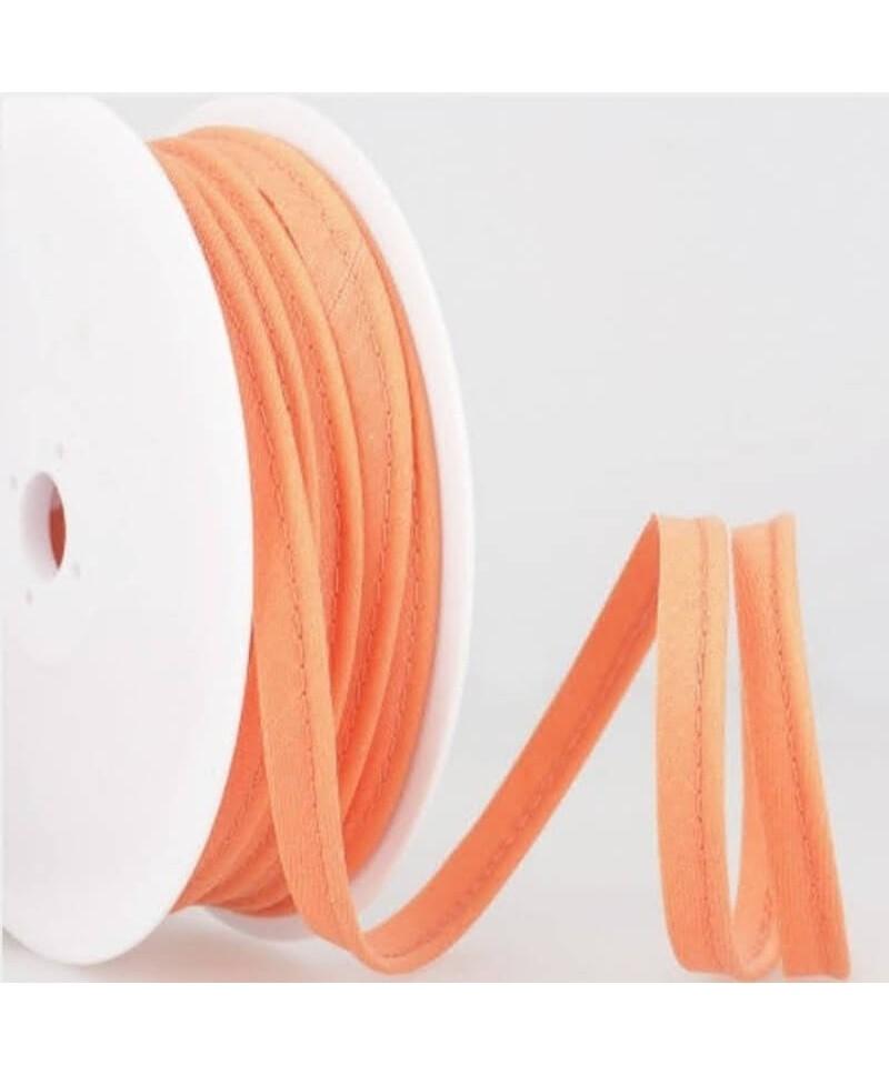 Passepoil tout textile 10 mm Saumon