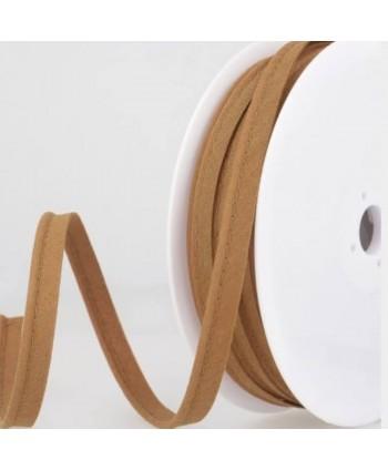 Passepoil tout textile 10 mm Café