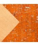 Liège luxe MB Cork Coupon 50*65cm Orange argenté 2