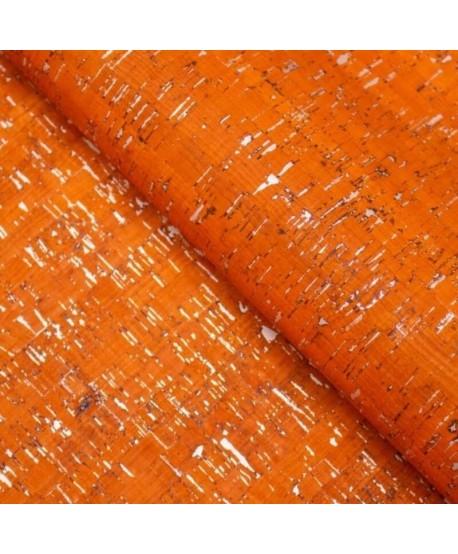 Liège luxe MB Cork Coupon 50*65cm Orange argenté 3