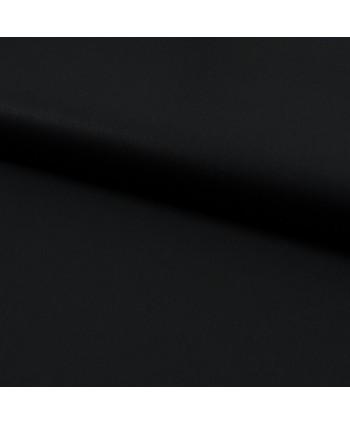Popeline de coton Bio Noir