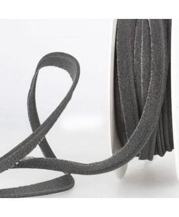 Passepoil métallisé Noir 10mm