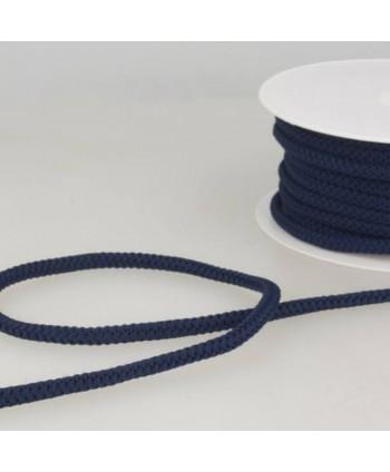 Cordon tricoté 6 mm Marine