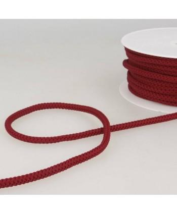 Cordon tricoté 6 mm Bourgogne
