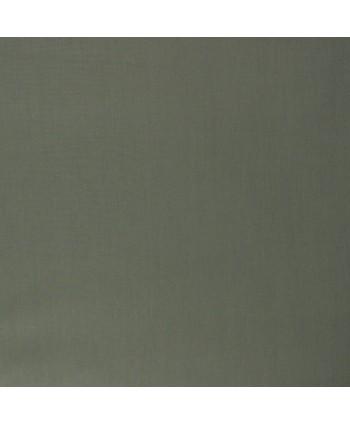 Popeline de coton bio unie Kaki