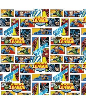 Tissu coton Justice League