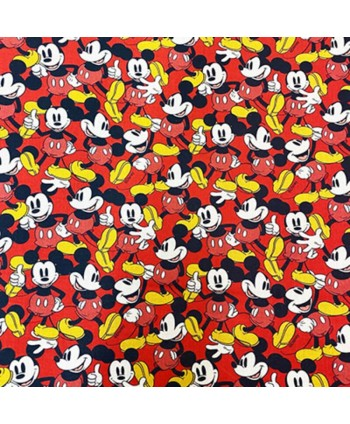 Tissu coton Mickey - rouge