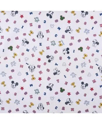 Tissu coton Mickey - Minnie