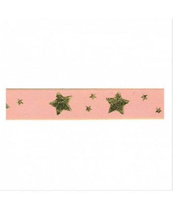 Ruban étoiles Rose 25 mm