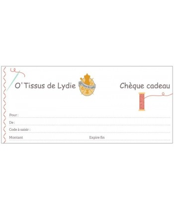Chèques-cadeaux 30€ recto