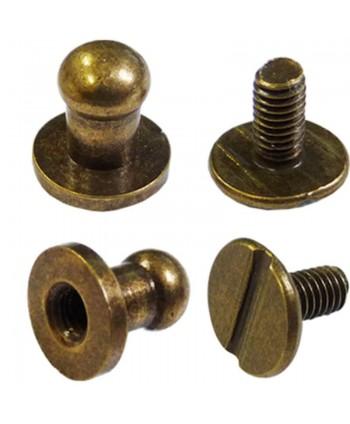 Boutons de col à vis 5 mm Bronze