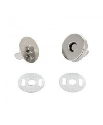 Fermoir magnétique 18mm Argent - VRAC
