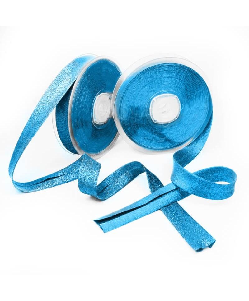 Biais lamé 20 mm Turquoise foncé