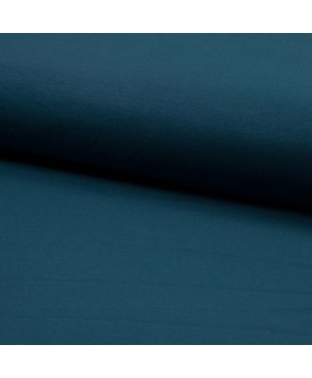 Popeline de coton Bio Bleu Canard
