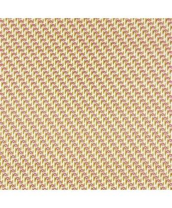 Tissu coton Pamea olive corail