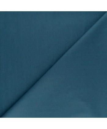 Popeline de coton bio unie Bleu