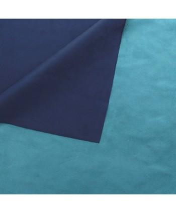 Suédine Kansas Turquoise Marine