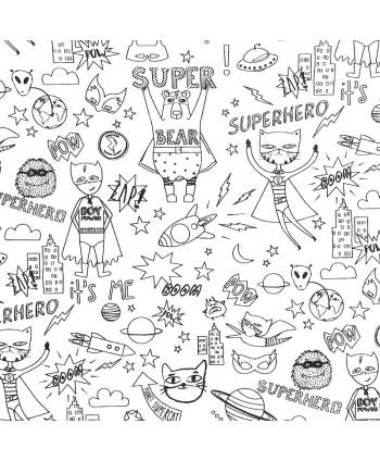 Tissu à colorier Super Héros