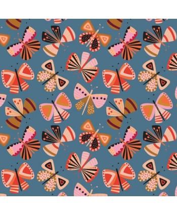 Velours milleraies Dashwood - Grey Butterfly