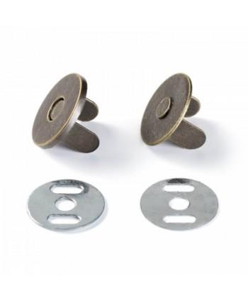Fermoir magnétique 18mm Argent - Bronze