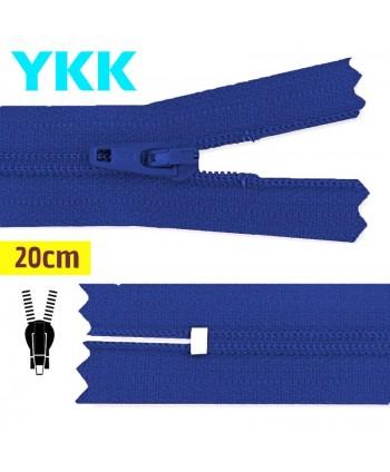 Fermeture YKK nylon non-séparable 20 cm Bleu