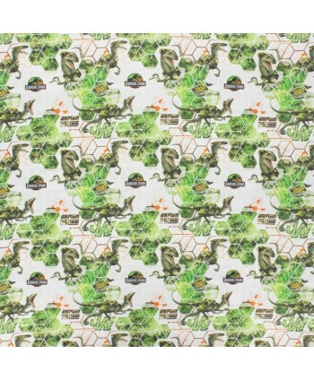 Tissu coton Jurassic Park