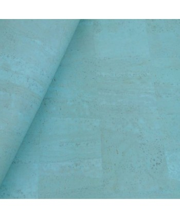 Liège luxe Cork Coupon 50*65cm Turquoise