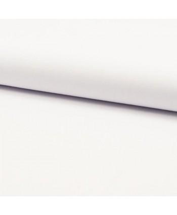 Popeline de coton bio unie Blanc