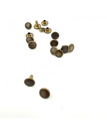 Rivets T4 Double calotte Bronze x10