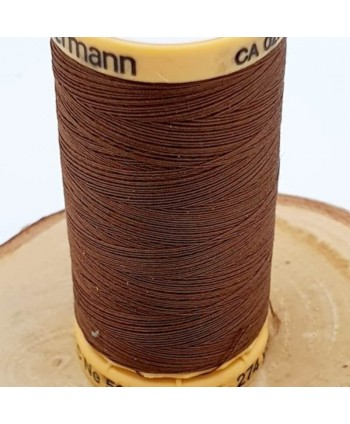 Fil à coudre 100% coton Gütermann 250m Marron