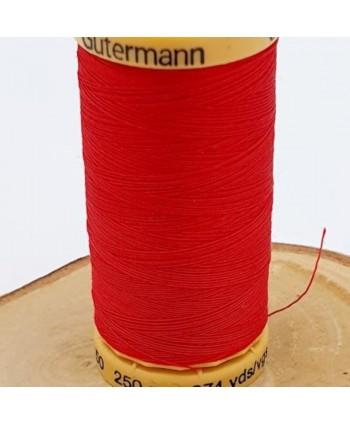 Fil à coudre 100% coton Gütermann 250m Rouge vif